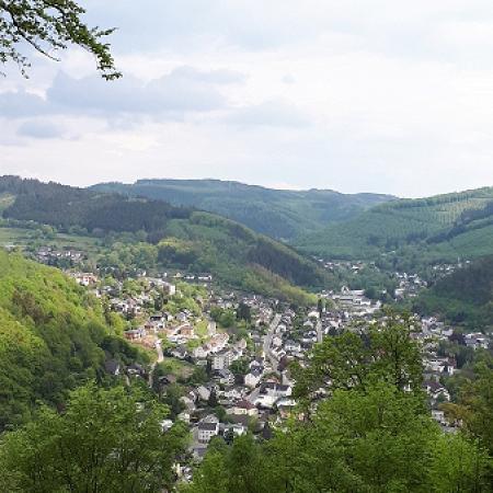 Ausblick von der Wellnessliege am Hestenberg